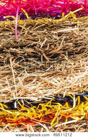 Colored Layers Of Straw