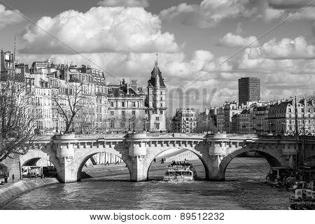 Boat Tour On Seine River In Paris