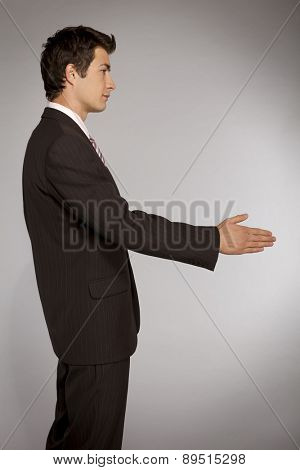 Young caucasian businessman - deal concept