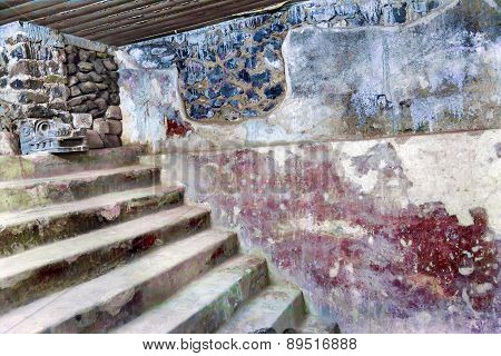 Ancient Apartments With Murals Indian Ruins Teotihuacan Mexico City Mexico