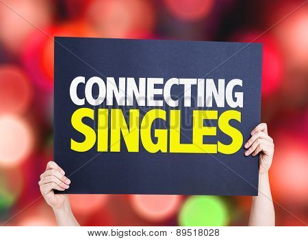 Connecting Singles card with bokeh background
