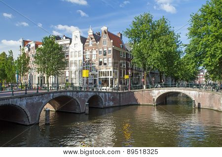 Famous Seven Bridges In Amsterdam