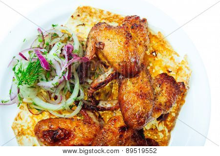 close up shot of restaurant food