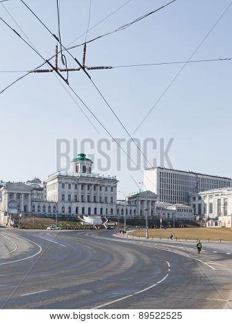 Borovitskaya Square In Moscow
