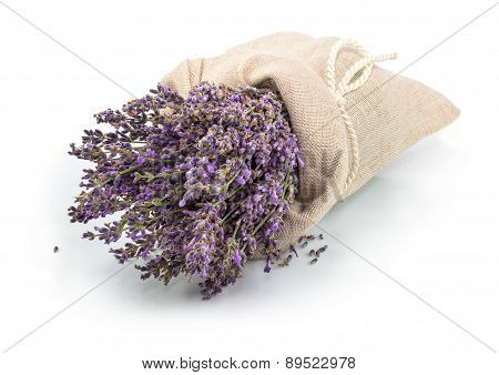Lavender In A Sack With Tie