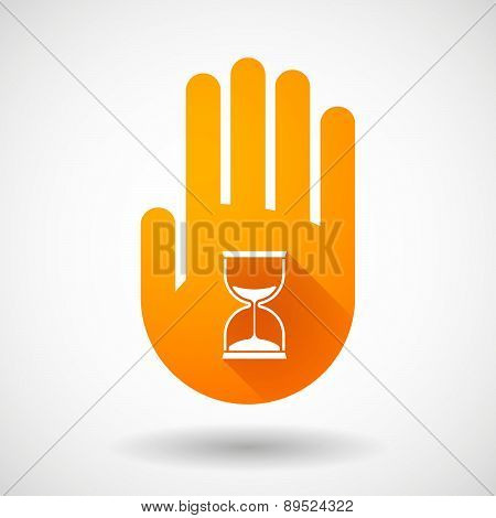 Orange Hand Icon With A Sand Clock