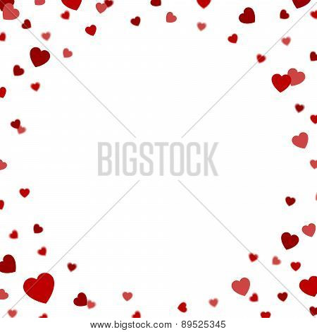greeting card with confetti hearts
