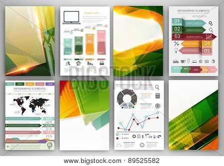 Infographic Template And Bright Abstract Backgrounds