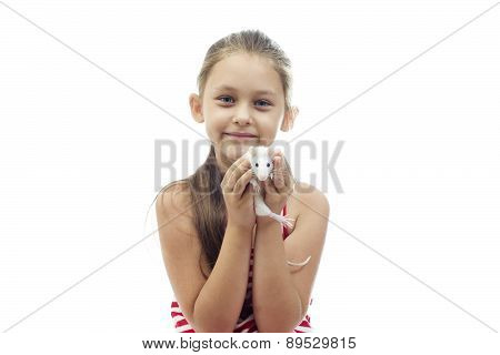 Kid Holding A Rat