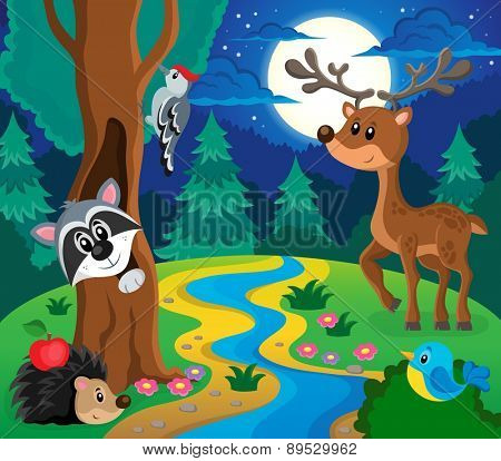 Forest animals topic image 8 - eps10 vector illustration.