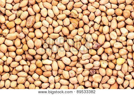 Freshly roasted groundnut or peanut seeds background