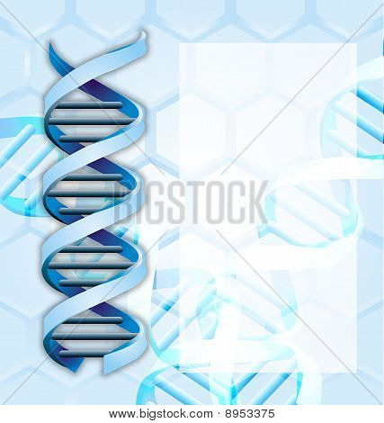 Medical Abstract Background With Dna