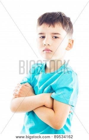 Boy Folding One's Arms