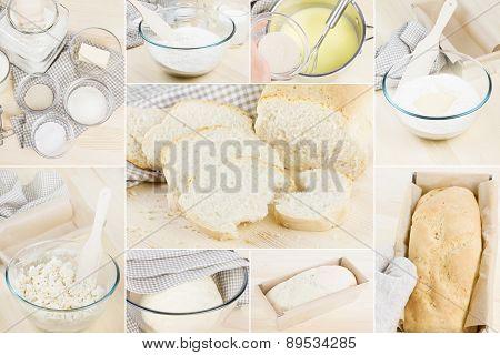 Photo Set Baking Homemade Bread