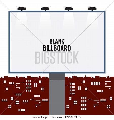 Blank Advertising Billboard In The City.