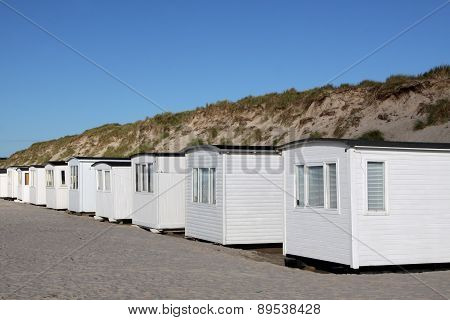 Beach huts in Løkken, Denmark