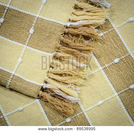 Yellow And Brown Cloth Background