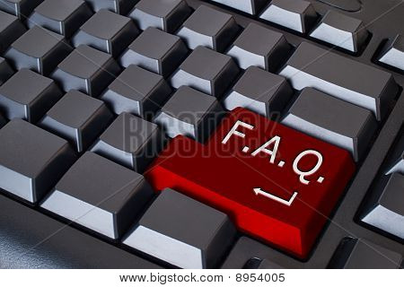 Red Faq Button