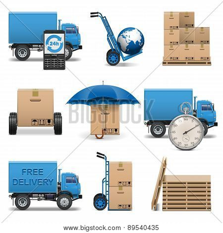 Vector Delivery Icons Set 4