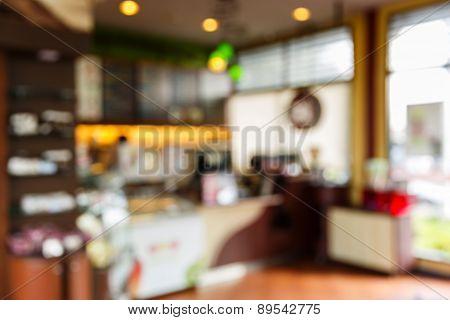 Blurred Coffee Shop