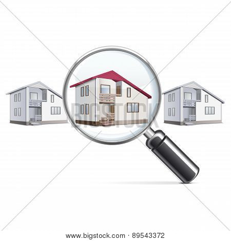Vector House with Lens