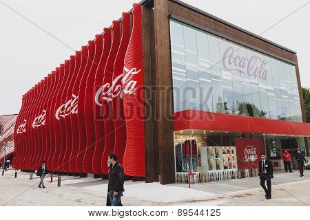 Coca-cola Pavilion At Expo 2015 In Milan, Italy