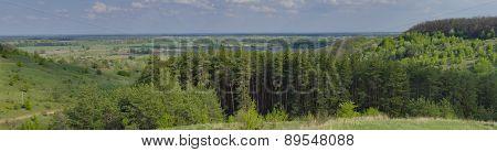 Panoramic Lanscape Near Poltava City, Ukraine