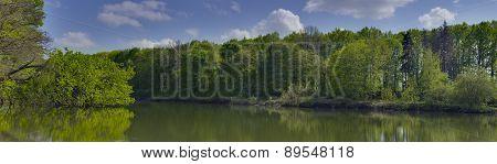 Panoramic Lanscape On A Lake Near Dikanka Village, Ukraine