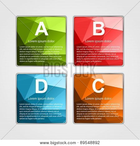 Abstract 3D Square Infographics Template.