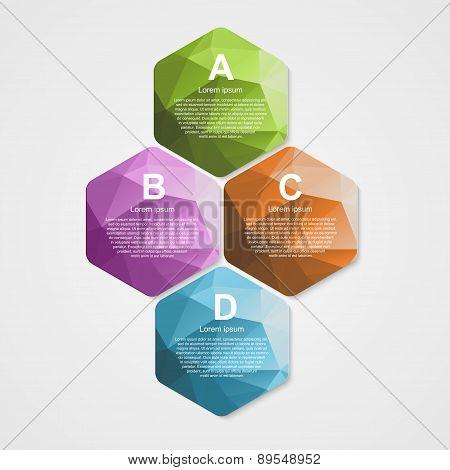 Abstract Hexagon Infographics Template.