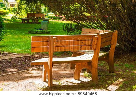 Wooden Bench Outdoors