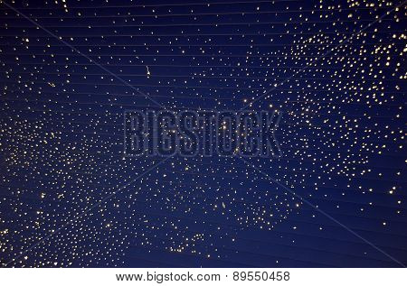 Artifical Nigh Sky With Lights As Stars