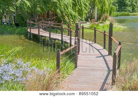 Bridge To  An Island On A Farm