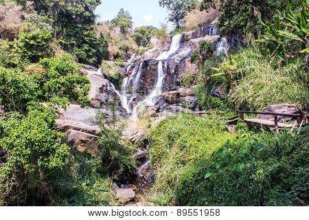Mae Klang Waterfall In Doi Inthanon, Chiang Mai Province Thailand