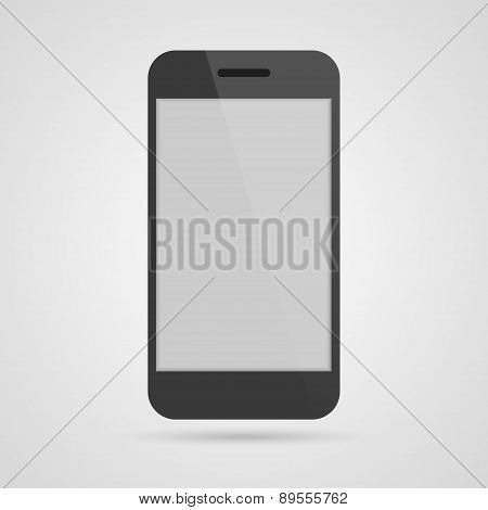 3D Realistic Mobile Phone. Vector Illustration.