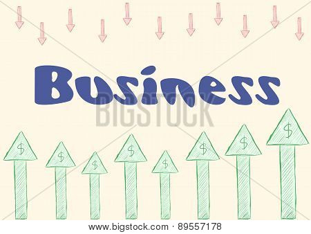 Business and arrows