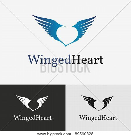 Flying wings Logo template.