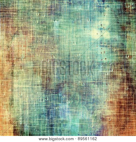 Retro texture. With different color patterns: brown; cyan; green; blue