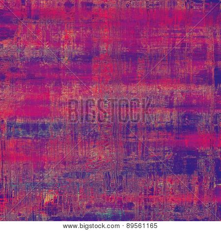 Retro background with old grunge texture. With different color patterns: purple (violet); pink; blue