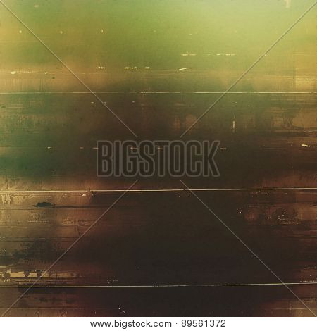 Vintage aged texture, colorful grunge background with space for text or image. With different color patterns: brown; gray; black; green