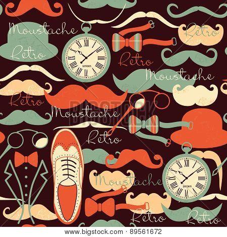 Retro Vintage Seamless Pattern