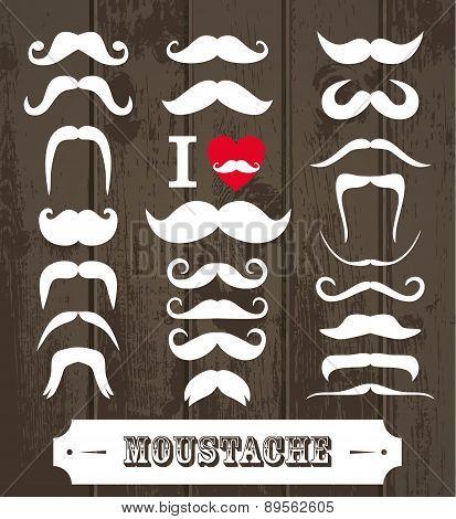 Moustaches Set