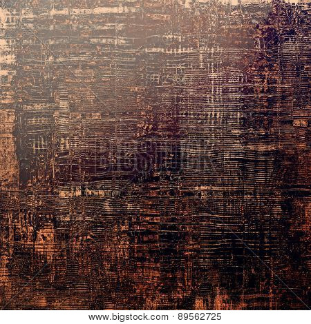 Old-style background, aging texture. With different color patterns: brown; gray; purple (violet); black