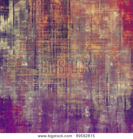 Abstract old background with rough grunge texture. With different color patterns: brown; gray; purple (violet); red (orange)