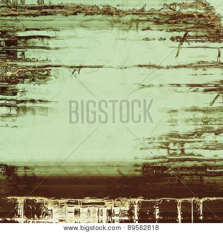 Vintage old texture for background. With different color patterns: brown; gray; black; green