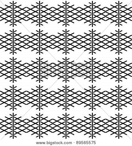 Tile black and white pattern or vector background