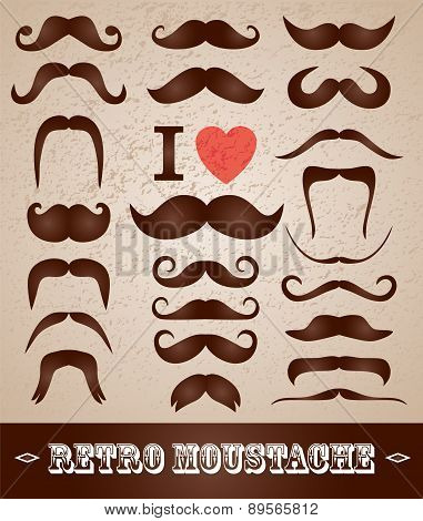 Moustaches Set