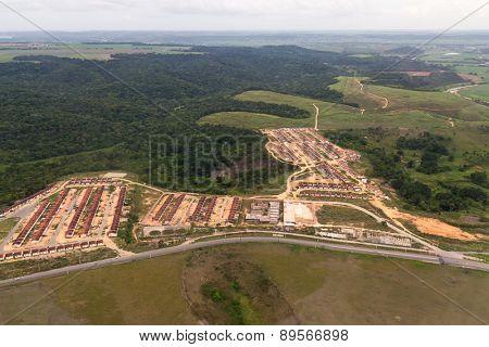 Aerial view of Rio Largo in Alagoas, Brazil.