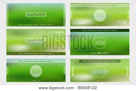 Header Design For Web Site