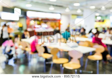 Abstract Blurred Food Center